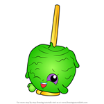 How to Draw Candy Apple from Shopkins