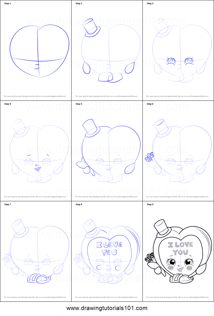 Uncategorized How To Draw Candy Step By Step how to draw candy kisses from shopkins printable step by drawing sheet drawingtutorials101 com