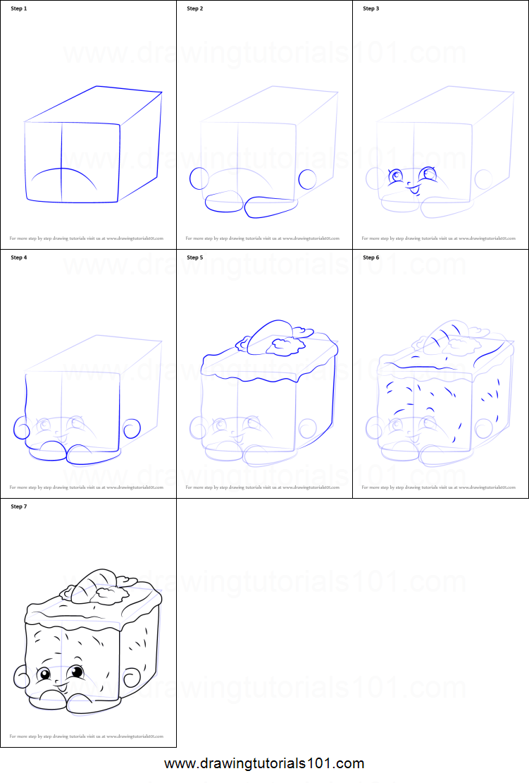 How to Draw Carrie Carrot Cake from Shopkins printable step by ... for Drawing Cake Step Step  lp0lpmzq