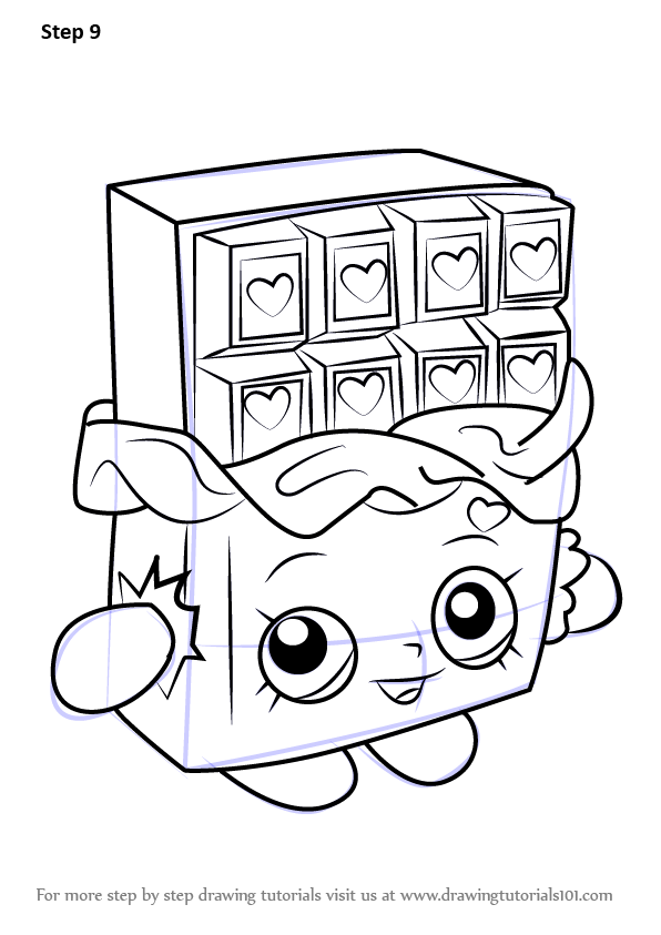 Learn How To Draw Cheeky Chocolate From Shopkins Shopkins