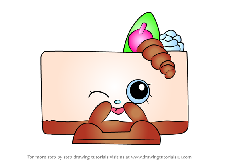 Learn how to draw cheese kate from shopkins shopkins for How to draw cheese step by step