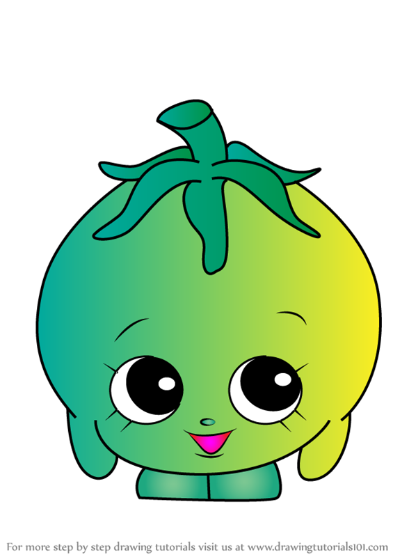 Learn How To Draw Cherie Tomatoe From Shopkins Shopkins