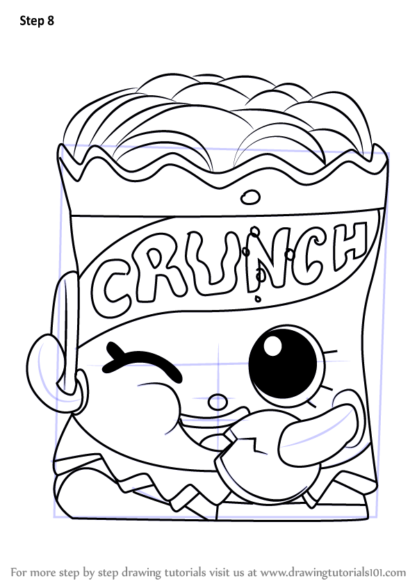 Learn How To Draw Crispy Chip From Shopkins Shopkins