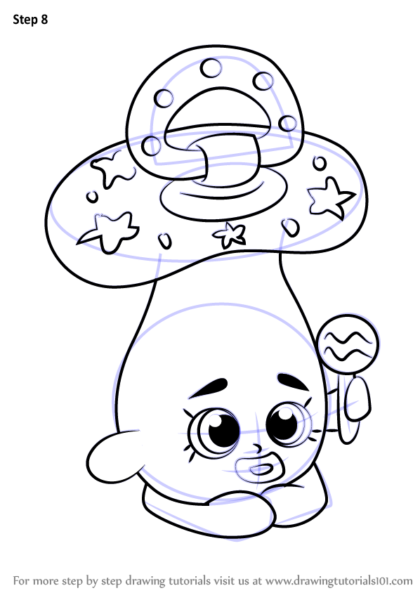 Baby toys colouring pages page 3 - Learn How To Draw Dum Mee Mee From Shopkins Shopkins