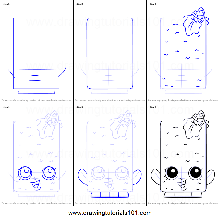 How to Draw Fishtix from Shopkins printable step by step drawing sheet ...