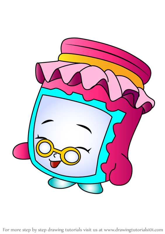 Learn How To Draw Gran Jam From Shopkins Shopkins Step