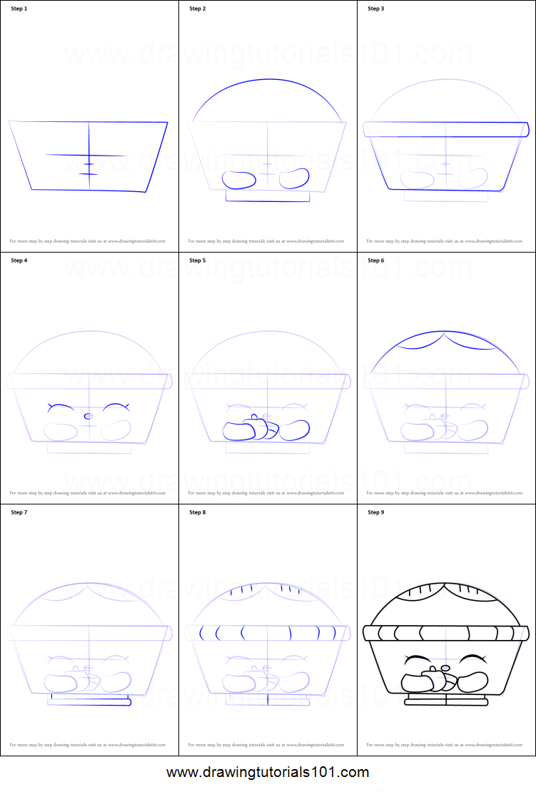 How To Draw Hot Apple Pie From Shopkins Printable Step By Step