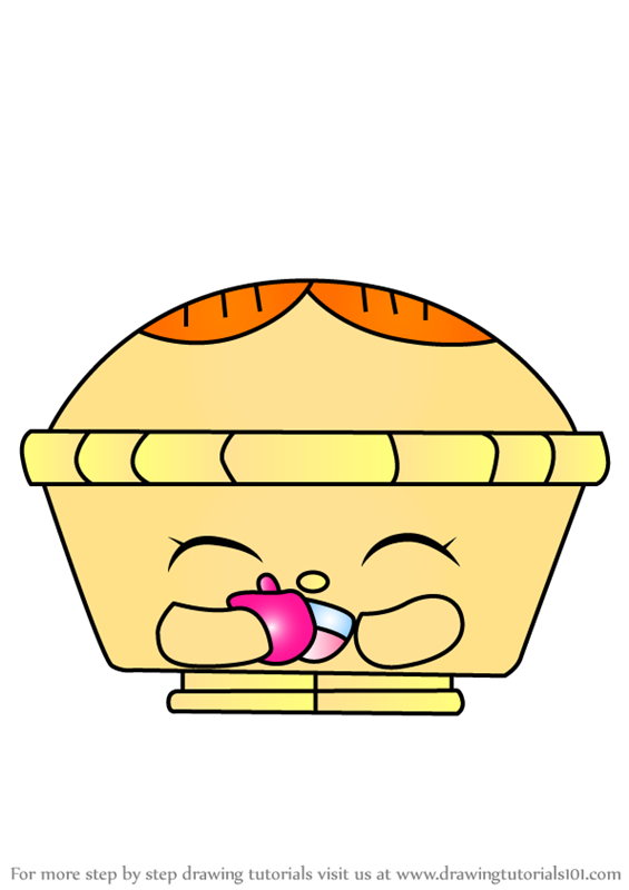 Learn How To Draw Hot Apple Pie From Shopkins Shopkins Step By