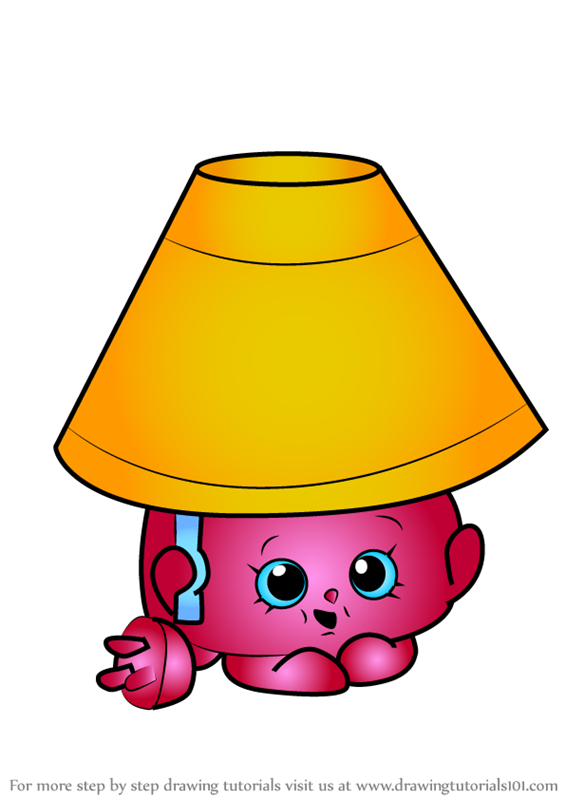 Learn How To Draw Lana Lamp From Shopkins (Shopkins) Step By Step : Drawing  Tutorials