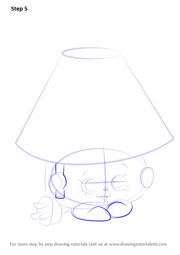 how to draw a tall lamp