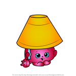 How to Draw Lana Lamp from Shopkins