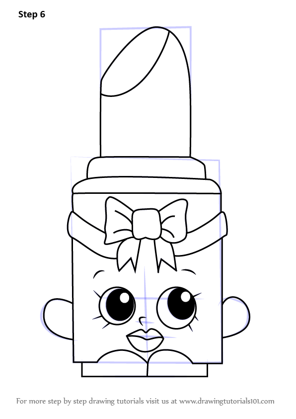 learn how to draw lippo from shopkins  shopkins  step by step   drawing tutorials