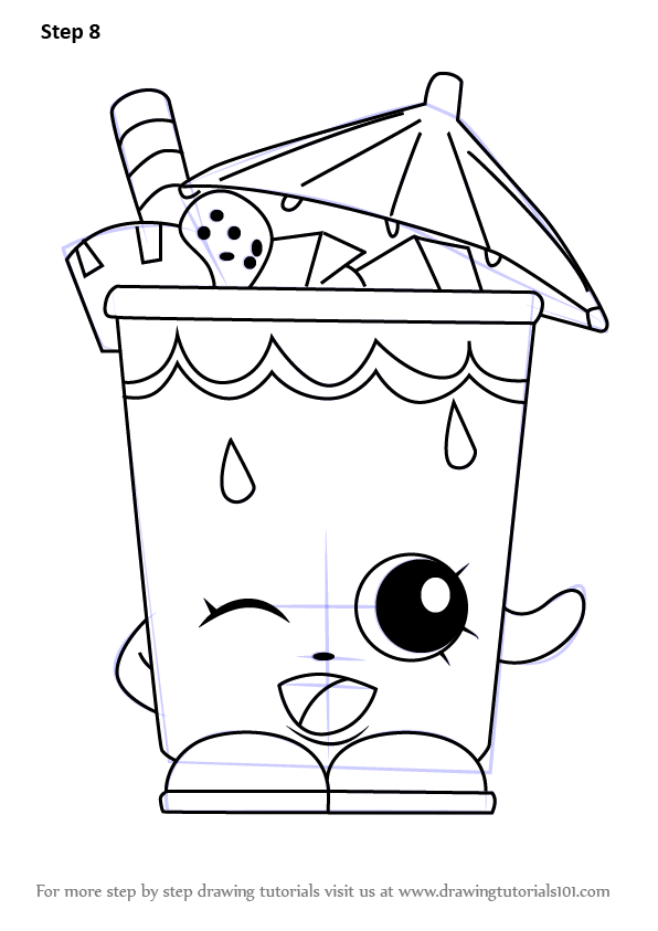 Learn How To Draw Little Sipper From Shopkins Shopkins