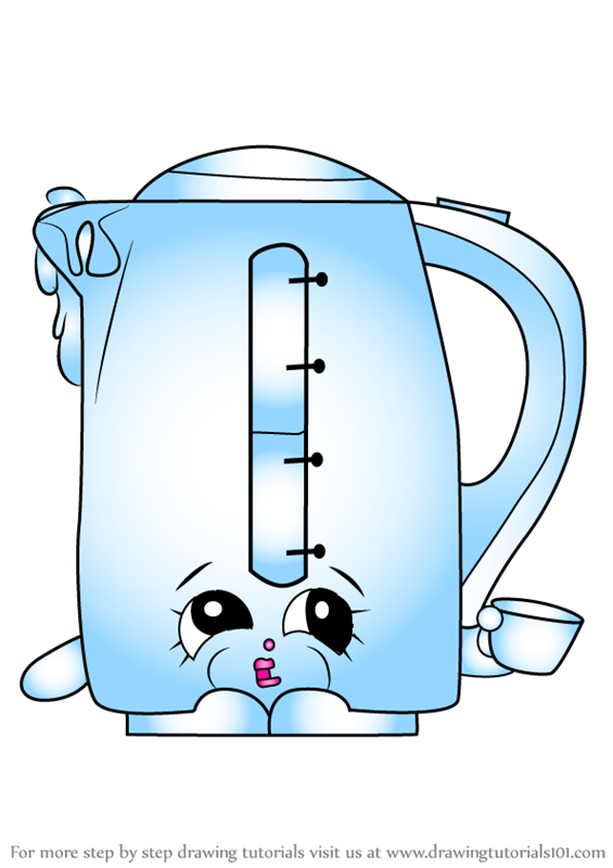 learn how to draw ma kettle from shopkins  shopkins  step