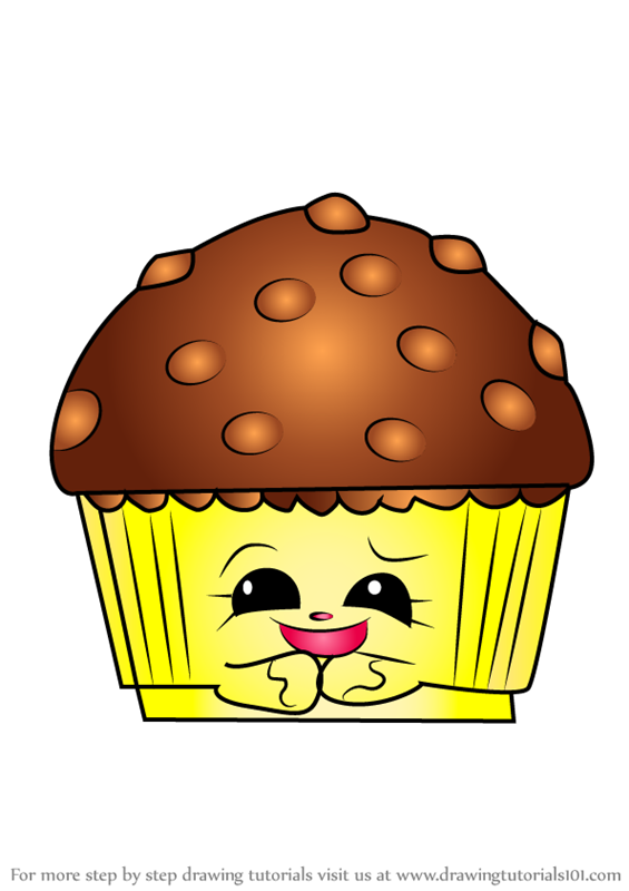 Step By Step How To Draw Mary Muffin From Shopkins