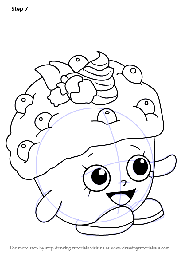 learn how to draw mini muffin from shopkins  shopkins