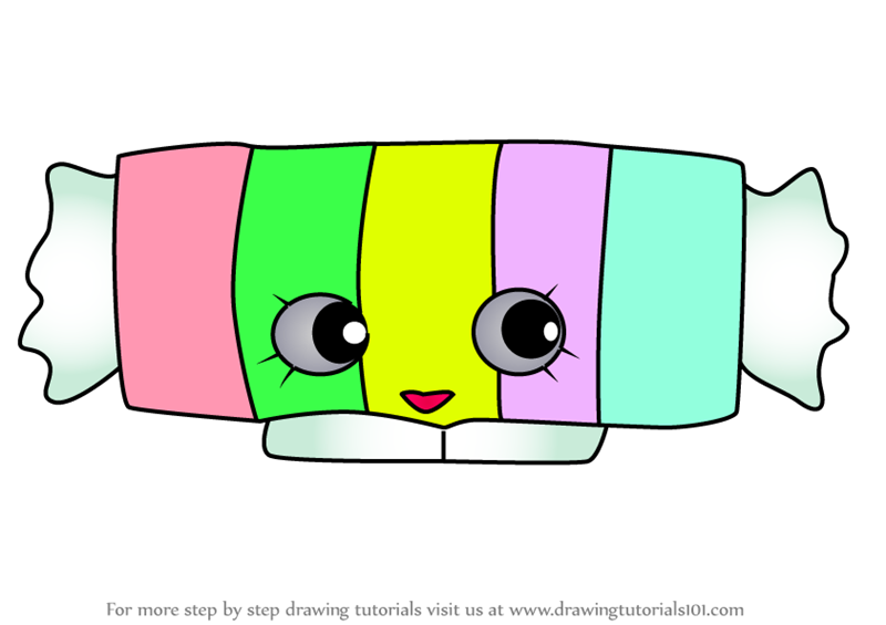Wonderful How To Draw Miss Candy From Shopkins