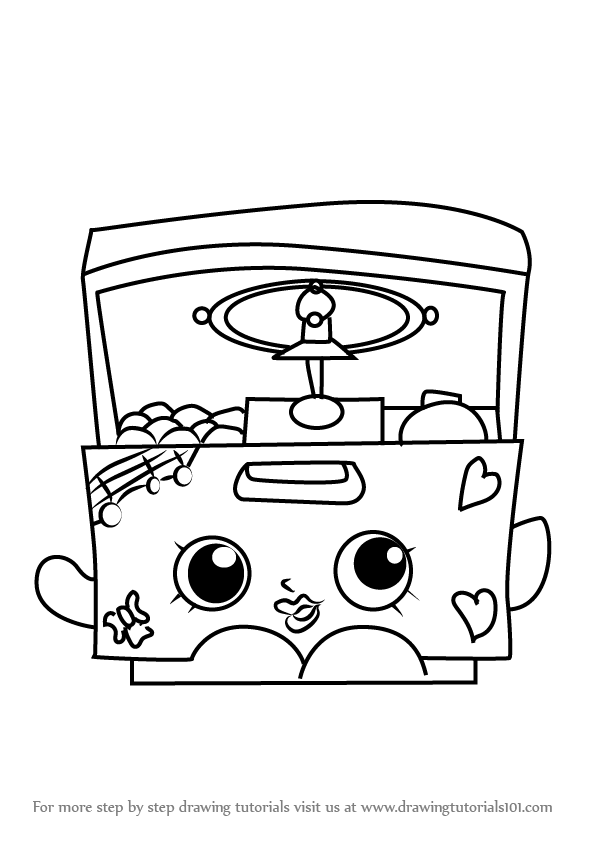 Learn How To Draw Music Box From Shopkins Shopkins Step
