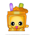 How to Draw Nutty Butter from Shopkins