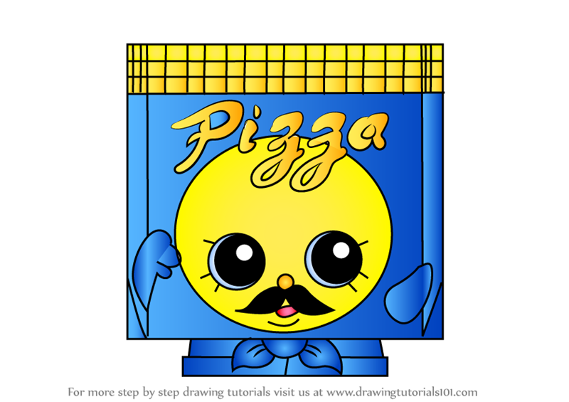 Learn How To Draw Pa Pizza From Shopkins Step By Drawing Tutorials