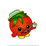 How to Draw Papa Tomato from Shopkins