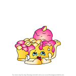 How to Draw Pecanna Pie from Shopkins