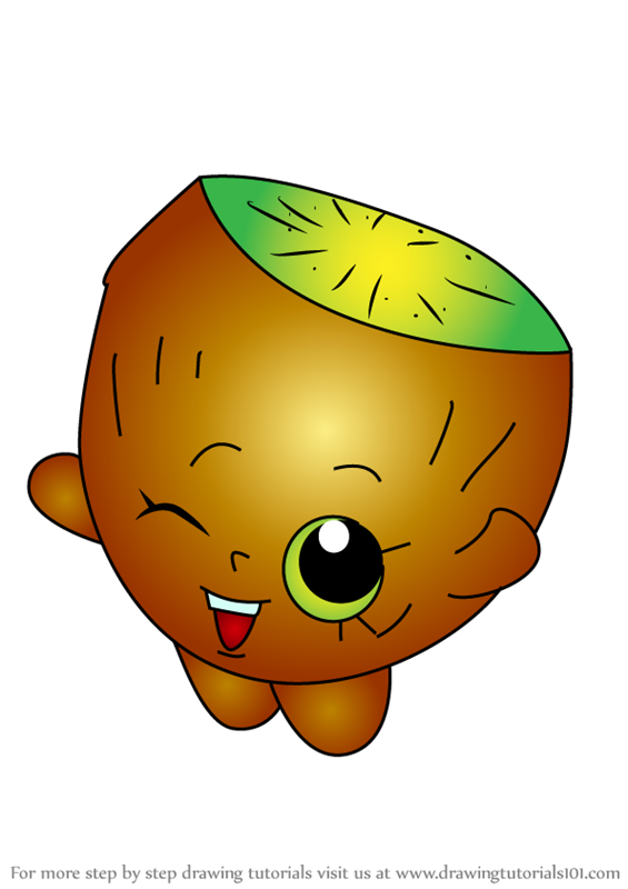 Learn How to Draw Pee Wee Kiwi from Shopkins (Shopkins