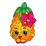 How to Draw Pineapple Crush from Shopkins