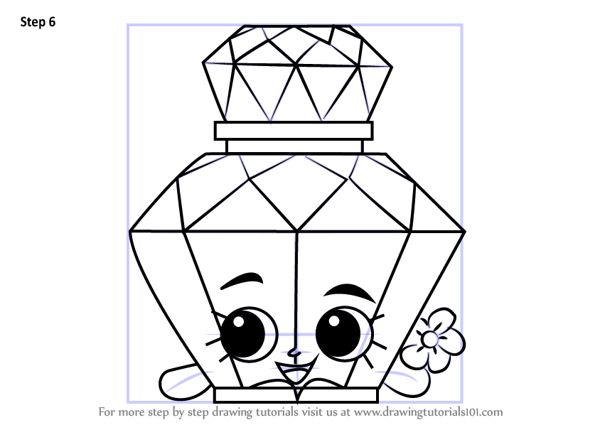 Learn How To Draw Polly Perfume From Shopkins Shopkins