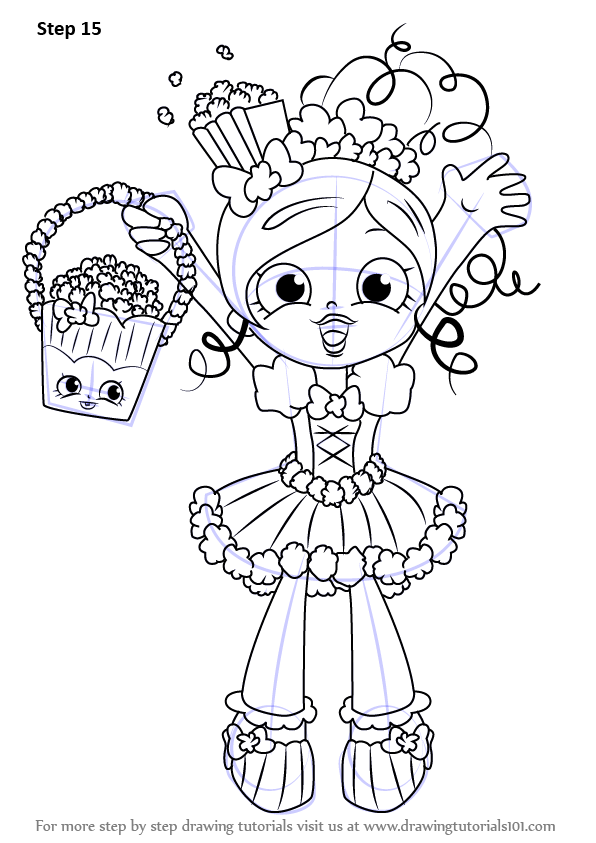 Learn How to Draw Popette from Shopkins Shopkins Step by