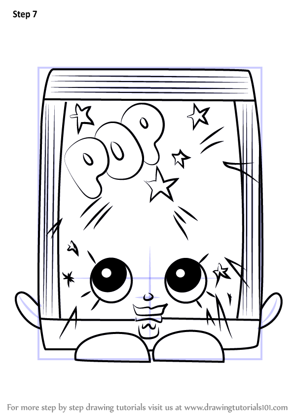 Learn How To Draw PopRock From Shopkins Shopkins Step By