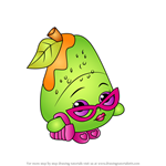 How to Draw Posh Pear from Shopkins