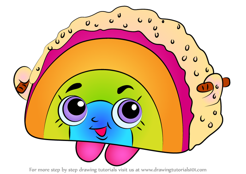 How To Draw Rainbow Bite From Shopkins