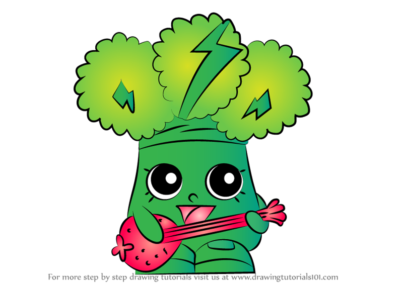 learn how to draw rockin broc from shopkins shopkins