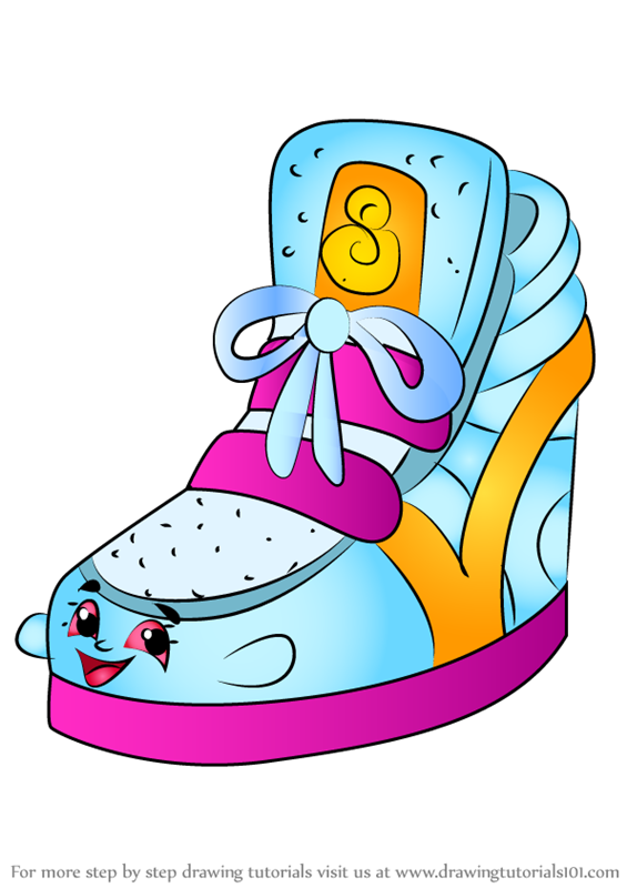 How To Draw Sneaky Wedge From Shopkins