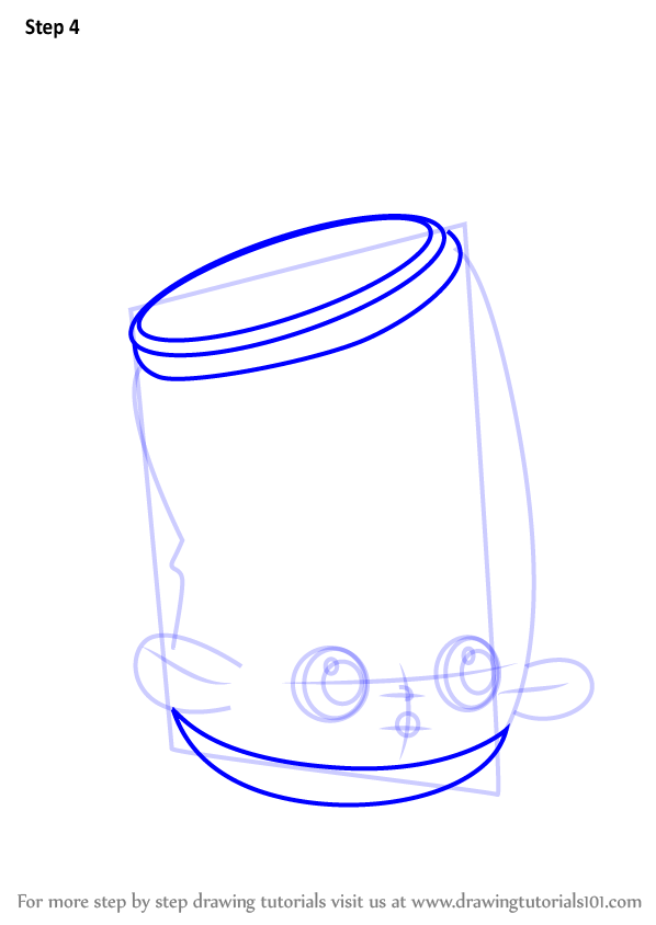 Learn How To Draw Soda Pops From Shopkins Shopkins Step