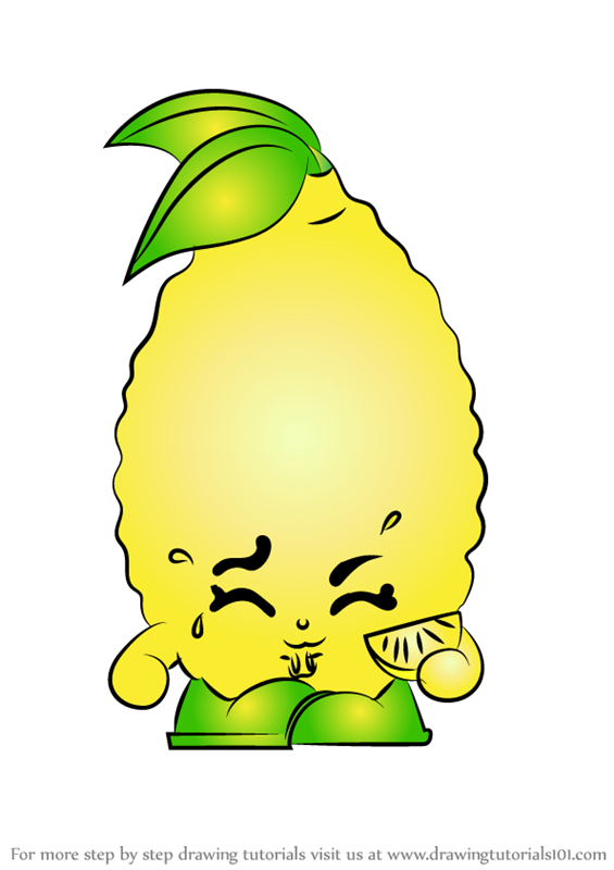 Learn How to Draw Sour Lemon from Shopkins Shopkins Step