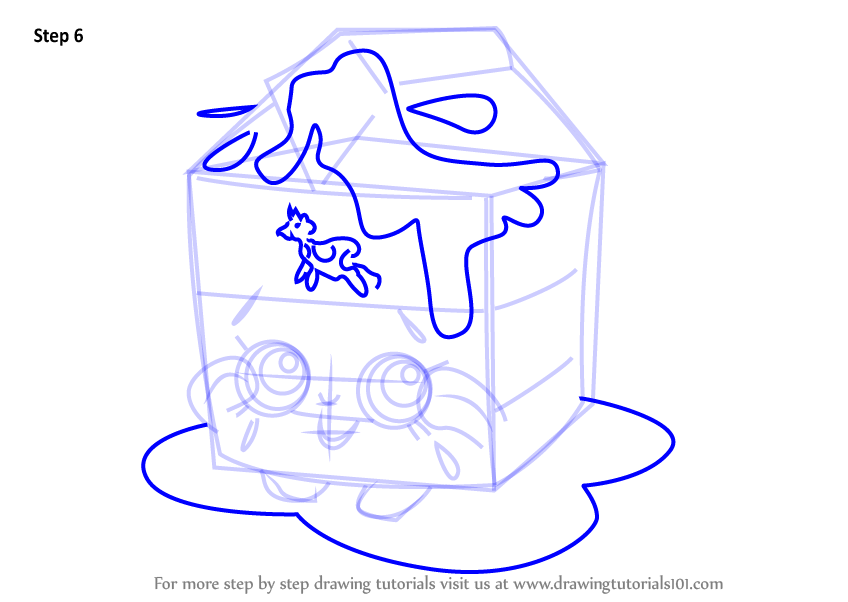 Learn How To Draw Spilt Milk From Shopkins Shopkins Step