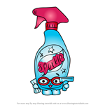 How to Draw Squeaky Clean from Shopkins