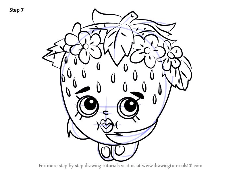 Strawberry Kiss Shopkins Coloring Page