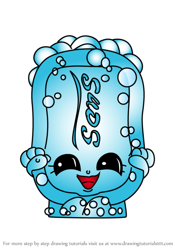 Learn How To Draw Suds From Shopkins Shopkins Step By