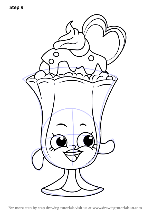 Scribble In Drawing : Learn how to draw suzie sundae from shopkins