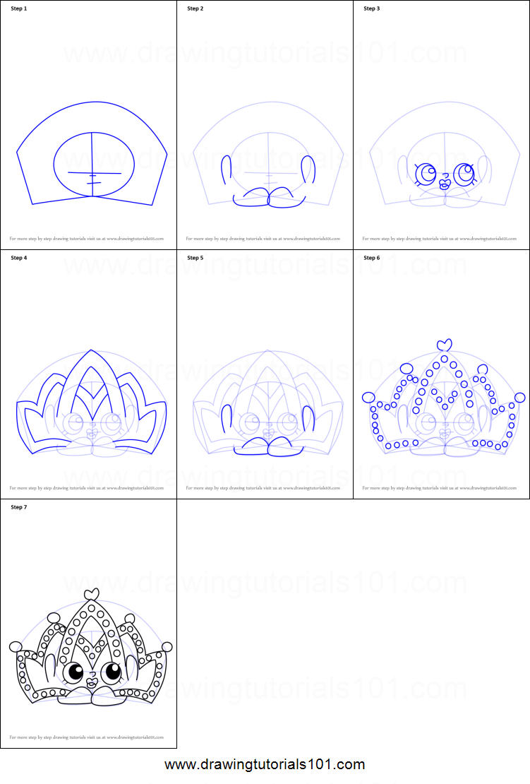 How To Draw Tiara From Kins Printable Step By Drawing Sheet Drawingtutorials101