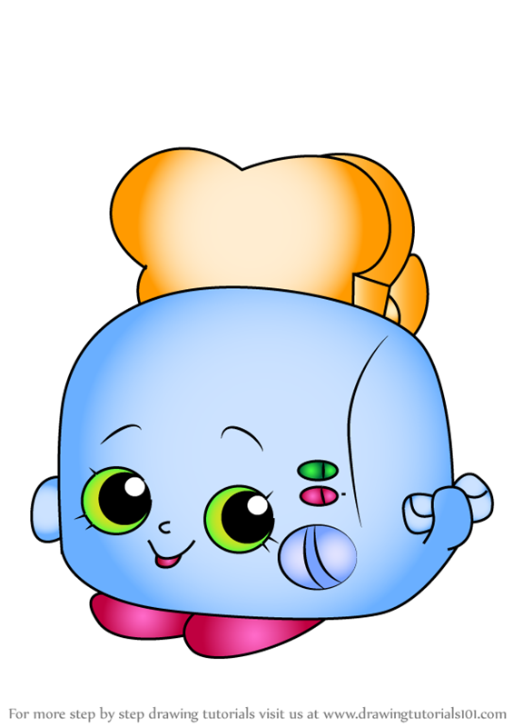 Learn How To Draw Toasty Pop From Shopkins Shopkins Step