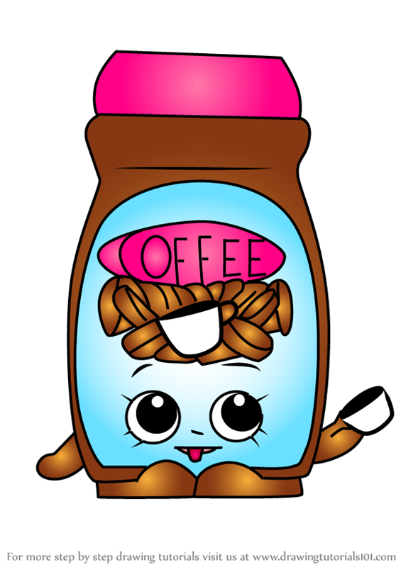 Learn How To Draw Toffy Coffee From Shopkins Shopkins