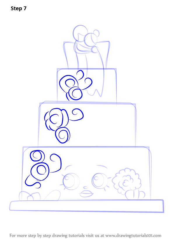 step by step wedding cake learn how to draw wendy wedding cake from shopkins 20527
