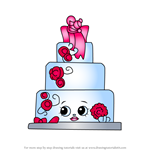 How to Draw Wendy Wedding Cake from Shopkins