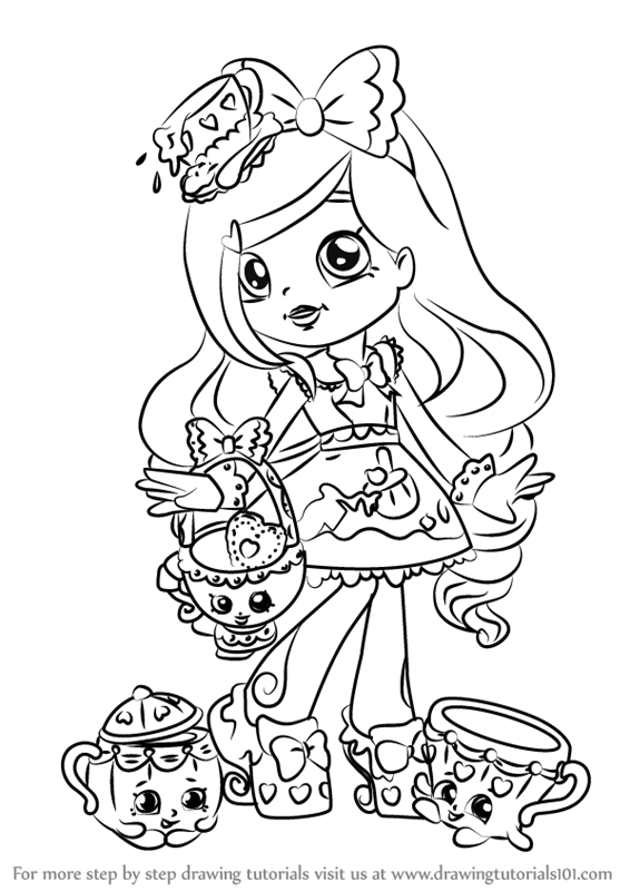 Learn how to draw kirstea from shoppies shoppies step by for Shoppies coloring pages