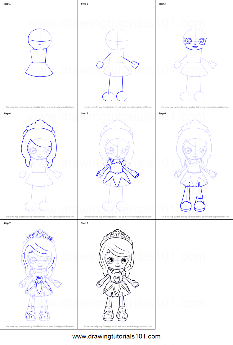 How To Draw Tiara Sparkles From Pies