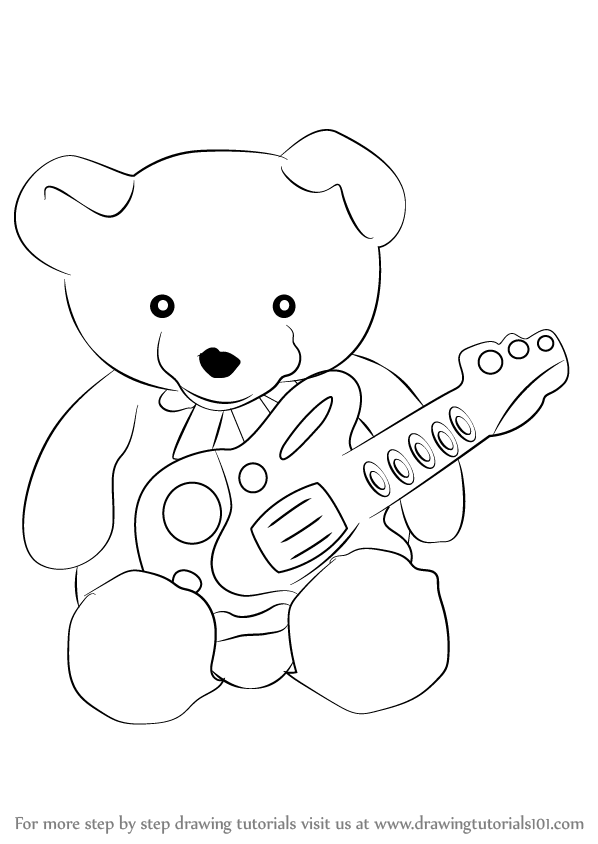 Learn how to draw teddy bear with guitar soft toys step by step how to draw teddy bear with guitar altavistaventures Image collections
